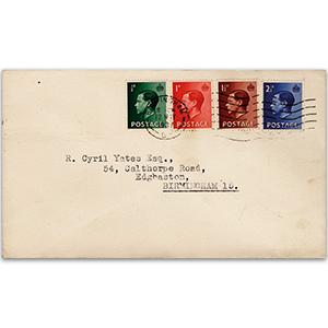 1937 George V.I. Coronation Day postmark, typed address