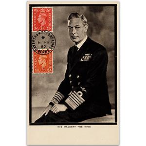 6 February 1952 George V.I. day of death maxicard