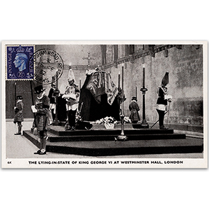 15/2/52 George V.I. funeral date lying-in-state maxicard