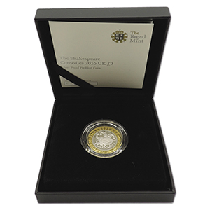 2016 Shakespeare Comedies £2  Silver Proof Piedfort