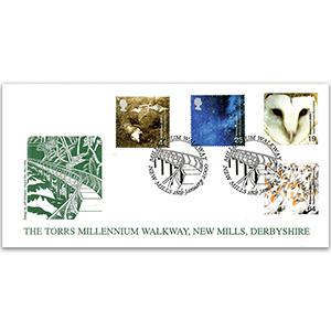 2000 Above & Beyond - New Mills Official - Millennium Walkway Handstamp