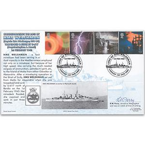 2000 Fire & Light - Navy Cover - HMS Welshman Handstamp - Signed R.W. Terry
