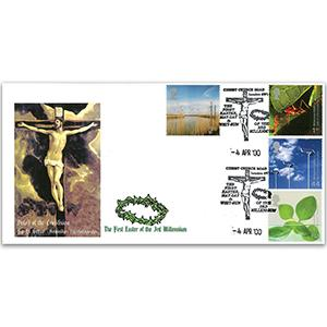 2000 Life & Earth - Christchurch Road London SW1 Handstamp