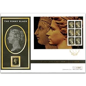 2000 Penny Black 160th Anniversary Cover - Encapsulates an 1840 Penny Black