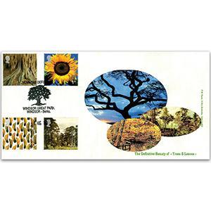 2000 Tree & Leaf - Windsor Great Park, Berkshire Handstamp