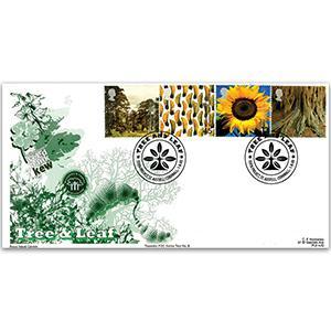 2000 Tree & Leaf - Royal Naval Covers - Eden Project Handstamp