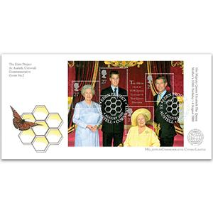 2000 Queen Mother M/S - Eden Project Handstamp