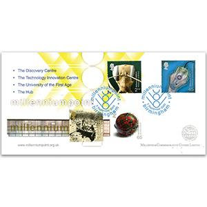 2000 Mind & Matter - Millennium Covers - Millennium Point Birmingham Handstamp