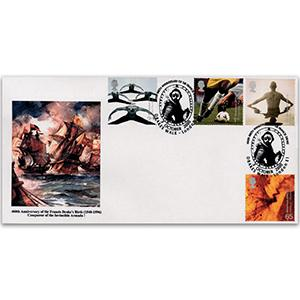 2000 Body & Bone - Peter Payne Official - Sir Francis Drake Handstamp