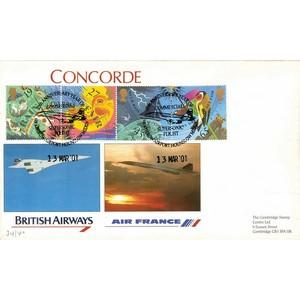 2001 Weather Stamps - Concorde Commercial Supersonic Flight Handstamp