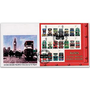 2001 Buses M/S - Kingsland Official - Victoria, London Handstamp