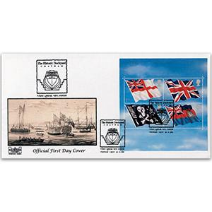 2001 Flags M/S - Havering Official, Historic Dockyard Chatham Handstamp