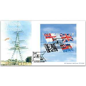 2001 Flags and Ensigns - Macintyre Official - Chatham Handstamp