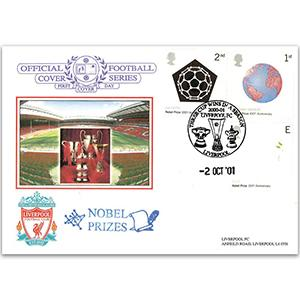 2001 Nobel Prizes Dawn Official - Liverpool Pair - Liverpoool Handstamp