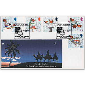2001 Christmas - Kingsland Official - North Pole Road Handstamp