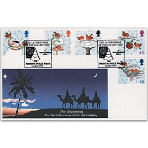 2001 Christmas - Kingsland Official - North Pole Road Handstamp