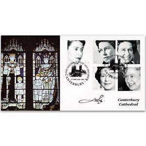 2002 Jubilee Official Canterbury Handstamp - Signed by Lord Lichfield