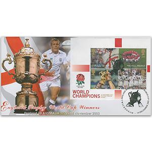 2003 Rugby Winners M/S - Scott Official - Twickenham Handstamp