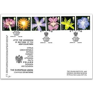 2004 Royal Horticultural Society - Englert Official - Poland in United Europe Handstamp