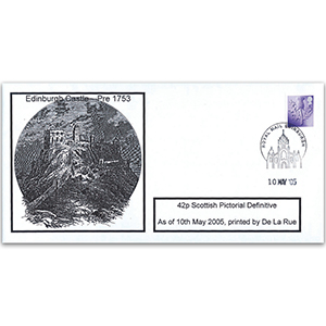 2005 Scottish 42p Printer Change Privately Produced - Edinburgh Handstamp
