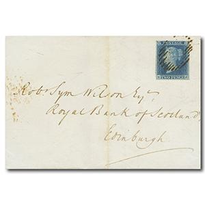 2d Blue on 1847 Edinburgh Cover