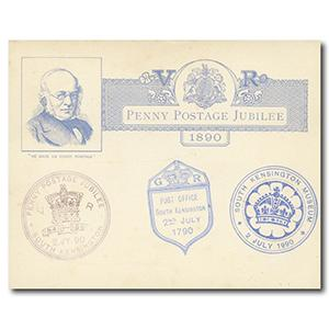 1890 Penny Postage Jubilee Pre-Paid Card