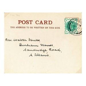 1900 Halfpenny on post card - London April 17 1900 counter date stamp