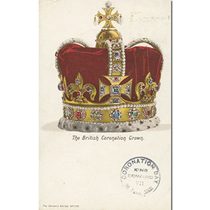1902 1/2d Postcard Postmarked on Coronation Day