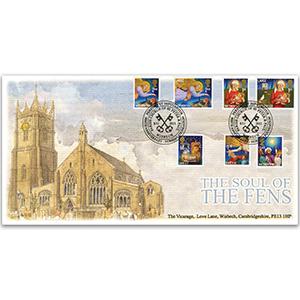 2011 Christmas stamps - Wisbech Church - Church of SS Peter & Paul handstamp