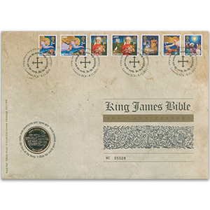 2011 King James Bible Royal Mail Coin Cover