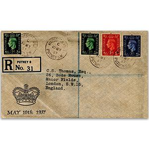 1937 George VI Display Cover - Putney CDS
