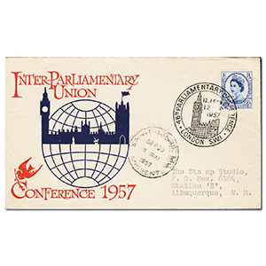 1957 Parliament - Big Ben handstamp
