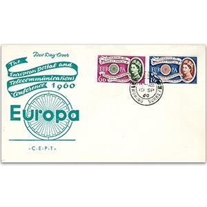 1960 Europa - Woking CDS on Illustrated Cover - Unaddressed