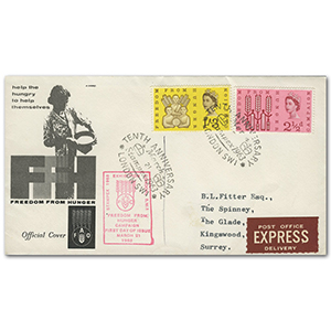 1963 F.F.H. with Stampex 1963, London cancel