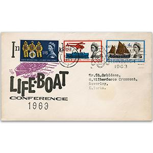 1963 Lifeboat Conference - London Special Slogan Cancel