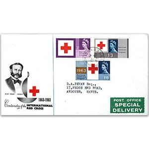 1963 Red Cross - Borough High St counter date stamp