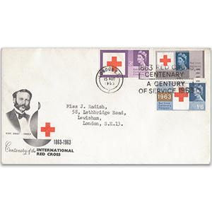 1963 Red Cross Centenary - London EC slogan
