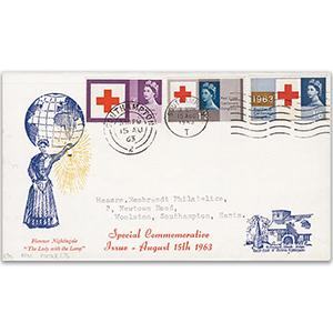 1963 Red Cross - Southampton T wavy line cancel