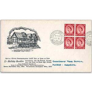 1963 Holiday Booklet reprint last day of issue - Stratford-upon-Avon counter date stamp