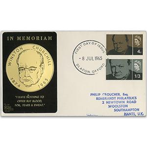 1965 Churchill (Phos) 'Metal Plaque' - Bladon FDI