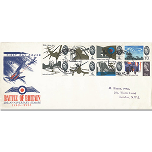 1965 Battle of Britain 25th Anniversary FDC - London WC FDI