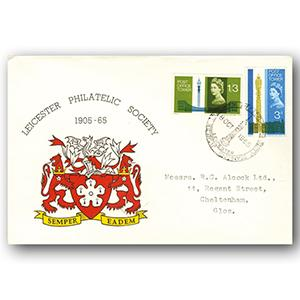 1965 Post Office Tower - Leicester Philatelic Society handstamp
