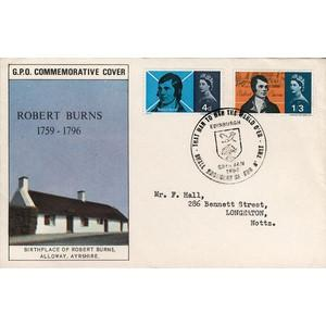 1966 Burns - Edinburgh Handstamp