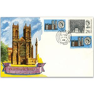 1966 Westminster (ord&phos) Fareham double ring stamp