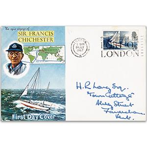 1967 Sir Francis Chichester - London 'Ship through the Port' Slogan