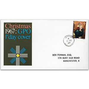 1967 Christmas GPO First Day Cover - Jericho CDS