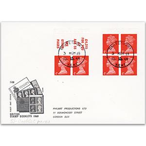 1969 2/- Stamp Booklet First Day Cover - Canterbury CDS