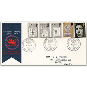 1969 Investiture - British Forces Postal Service 1000 handstamp