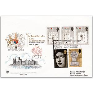 1969 Illustrated Investiture - Margam Abbey handstamp