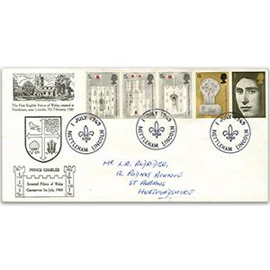 1969 Investiture - Nettleham handstamp